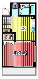 石川ビル[4階]の間取り