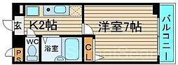 大阪府堺市東区白鷺町3丁の賃貸マンションの間取り