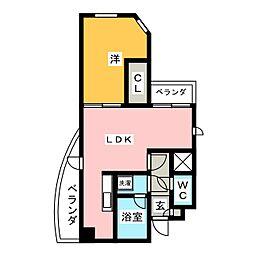 ロイヤルヒルズ表柴田[3階]の間取り
