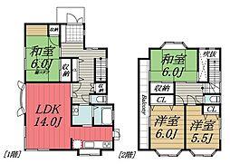 [一戸建] 千葉県市原市ちはら台南5丁目 の賃貸【/】の間取り