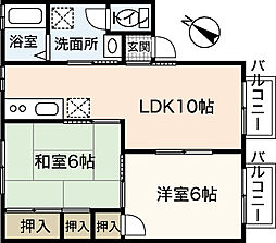 神賀グリーンハイツ 5号棟[2階]の間取り