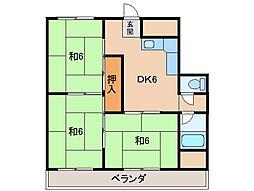 高津志マンション[4階]の間取り
