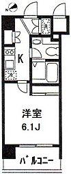 東京都港区東麻布3丁目の賃貸マンションの間取り