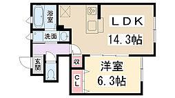 桜コートII[1階]の間取り