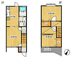 [テラスハウス] 神奈川県厚木市戸室1丁目 の賃貸【/】の間取り