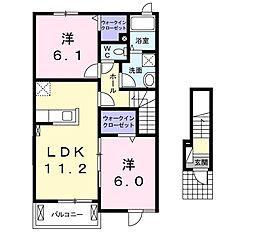 レジデンス オオギII[2階]の間取り