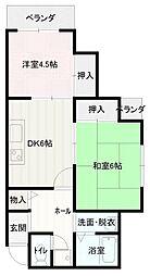 ファーストタウンパートV[7階]の間取り