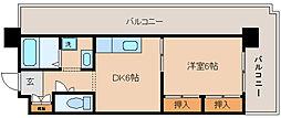 兵庫県神戸市兵庫区駅前通2丁目の賃貸マンションの間取り