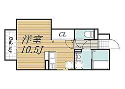 千葉県千葉市緑区おゆみ野1の賃貸アパートの間取り