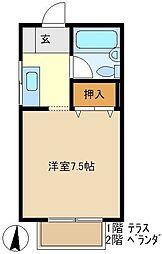 グリーン豊 206[2階]の間取り