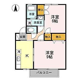 長野県松本市双葉の賃貸アパートの間取り