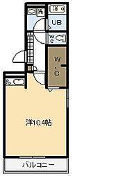 ウエストヴィレッジ2 A棟[A105号室]の間取り