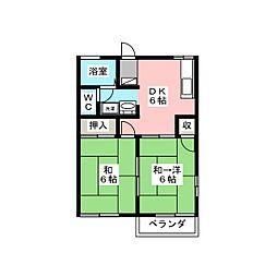 シャインハイツ3[2階]の間取り