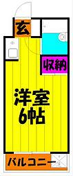 クニヤスNO.1[3階]の間取り