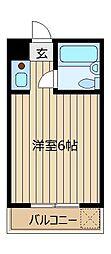 東和プラザA館・B館[B502号室]の間取り