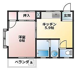 オークハウス[3階]の間取り