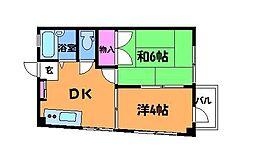 ハイツローズマロー[3階]の間取り