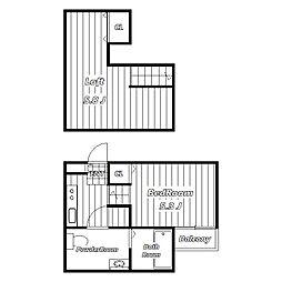セイント稲毛Duo[1階]の間取り