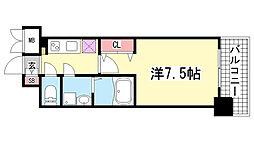 レジュールアッシュ神戸元町[3階]の間取り