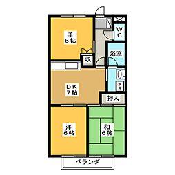 サープラスⅢ HIGASHIBORA[2階]の間取り