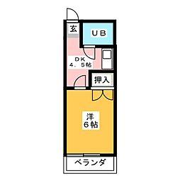 レジデンスラック[2階]の間取り