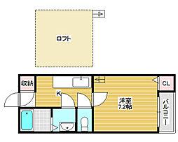 フラッツ堺東[2階]の間取り