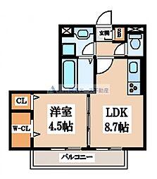 仮称)東大阪市徳和ハイツ[2階]の間取り