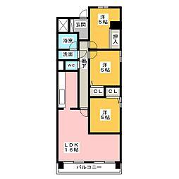 サンヴィラ野並 B棟[11階]の間取り