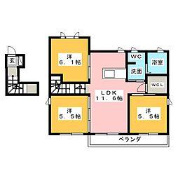 Maison de juste plateau I II[2階]の間取り