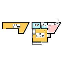 マ・ピエス西生田5 1階1Kの間取り