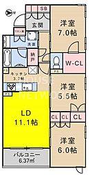プレージア京都聖護院ノ邸[204号室号室]の間取り