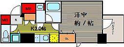 ファーストレジデンス天満橋[11階]の間取り