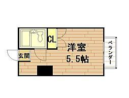 ビスタシオンギャラクシー[1階]の間取り