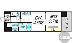 エルシア新大阪 5階1DKの間取り