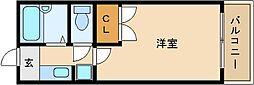 OMレジデンス柏原I[1階]の間取り