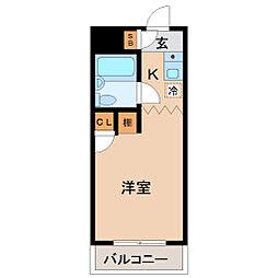 メゾン・ド・サンパティー[4階]の間取り