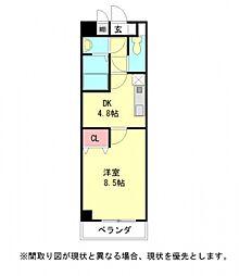 愛知県一宮市栄1丁目の賃貸マンションの間取り