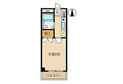ジョイフル貝沢[2206号室]の間取り