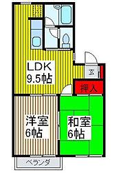 サンクハウス[2階]の間取り