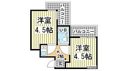 アメニティ東神戸3番館[3206号室]の間取り