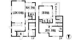 [一戸建] 大阪府池田市五月丘5丁目 の賃貸【/】の間取り