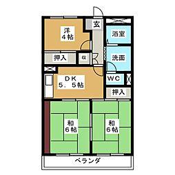 田島マンシヨン[3階]の間取り