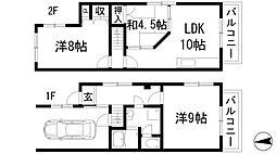 [テラスハウス] 兵庫県宝塚市雲雀丘2丁目 の賃貸【/】の間取り