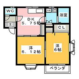 エストマーレ[2階]の間取り