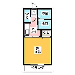サウスヤラ[2階]の間取り