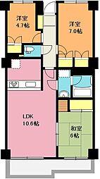 伊奈OCマンション[4階]の間取り