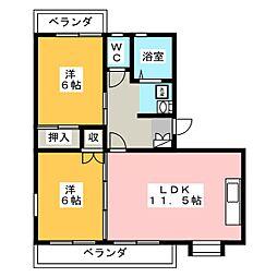 フューチャーハウス15[2階]の間取り