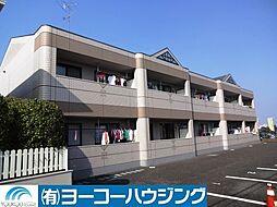 東京都あきる野市草花の賃貸マンションの外観