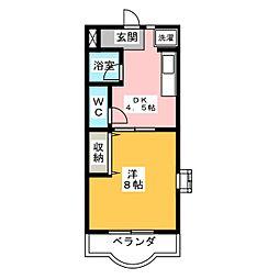 ファミーユII[3階]の間取り