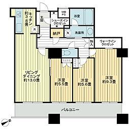 ザ・パークハウス西新宿タワー60[57階]の間取り